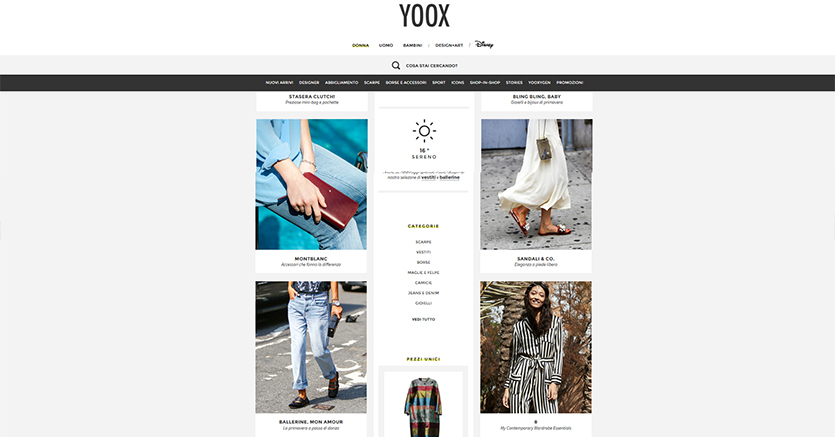 yoox export digitale